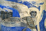 [TURKEY.EAST 27947]<br /> 'Angel on Akdamar Island.'<br /> <br /> 	An angel with dissolved wings soars through a blue universe in the interior of the 10th century Armenian Cathedral of the Holy Cross on Akdamar, a small island in Lake Van. Photo Mick Palarczyk.