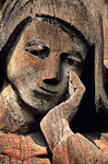 <h4>[ROMANIA.MARAMURES 23.717] <br>'Mary in tears.'	</h4> The 17th century artist who created the crucifixion scene at Berbesti has succeeded in giving Mary a moving mournful expression. Photo Mick Palarczyk.