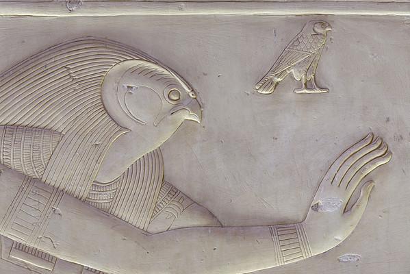 [Egypt 29960] 'Horus in Ptah-Sokar Chapel at Abydos.'