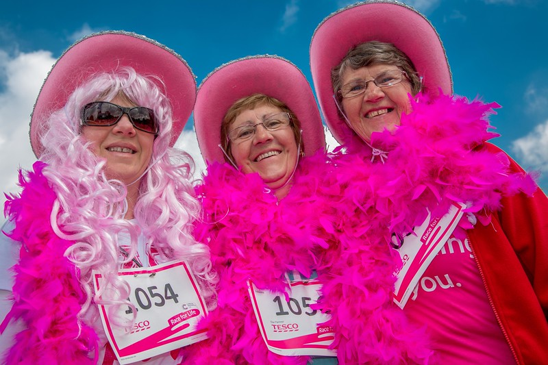 Cancer Research Race For Life - Walsall Arboretum - 19 May 2013 - L to R - Jo Summerfield, Jenny Eardley, Cath Summerfield