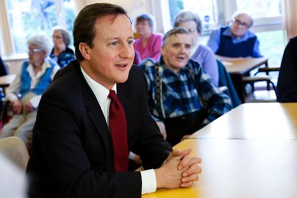David Cameron visit to Age Concern premises in New Oscott