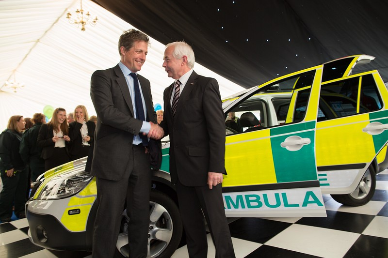Hugh Grant launching Burntwood's first responder scheme