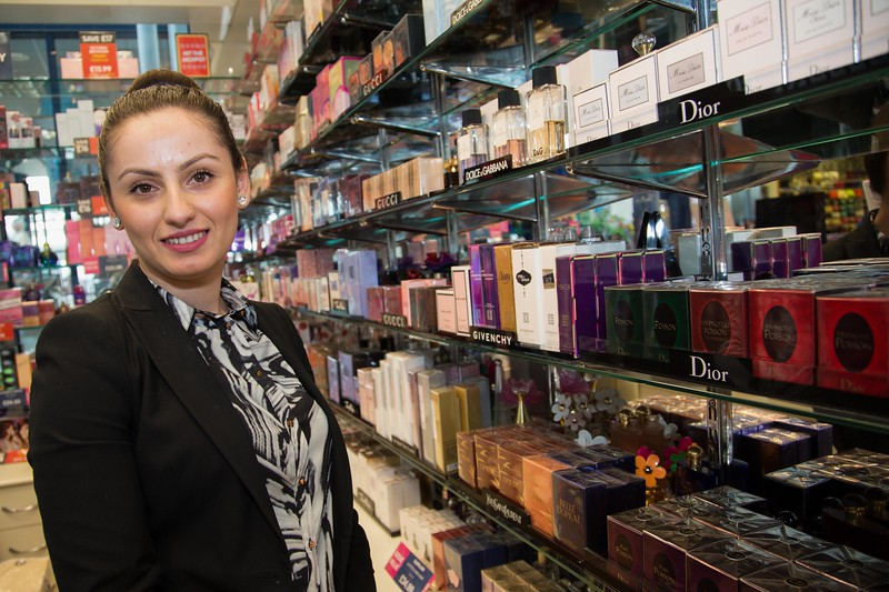 The Fragrance Shop, One Stop Shopping Centre, Manager Malvina Ahmetaj - Shop won an incentive for most sales an best performance
