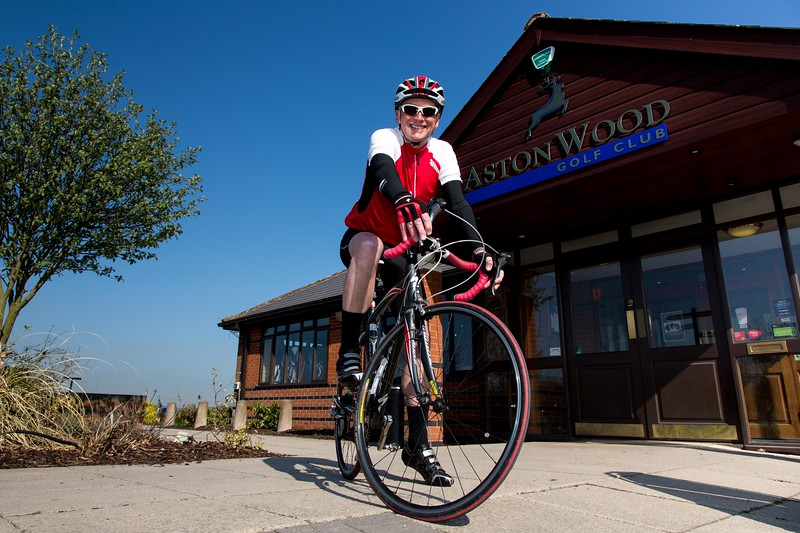 David Dimelse who has organised a charity bike ride beginning at Aston Wood Golf Club to raise money for the Cancer Support Centre