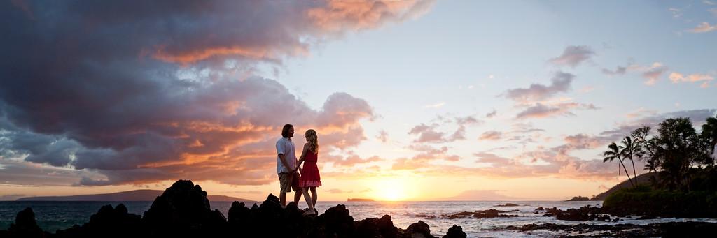 Makena Cove Engagement Photography