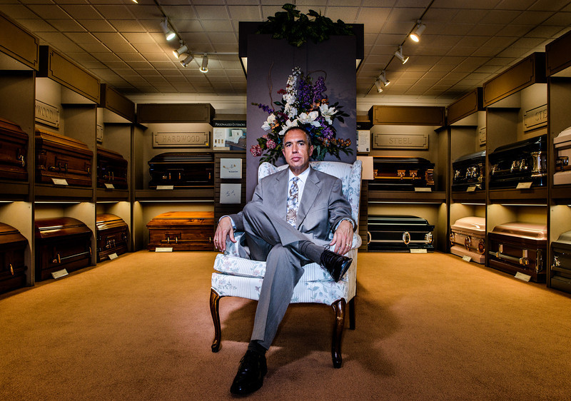Jeff Musgrove is the mortuary home director at the Musgrove Family Mortuary in Eugene, Ore.