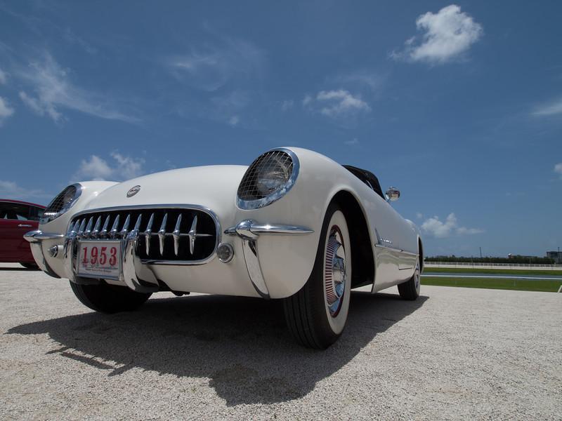1953 White Corvette Convertible