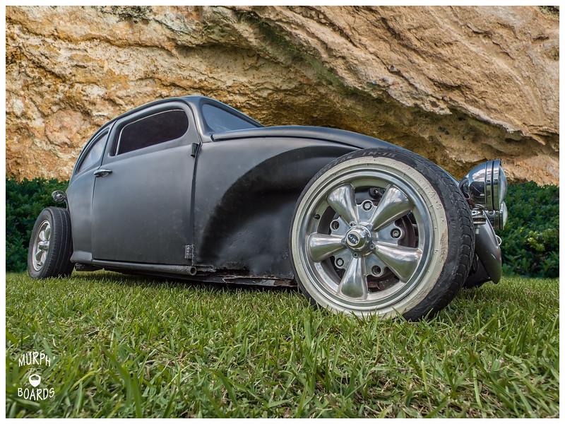 Black VW Beetle Rat Rod