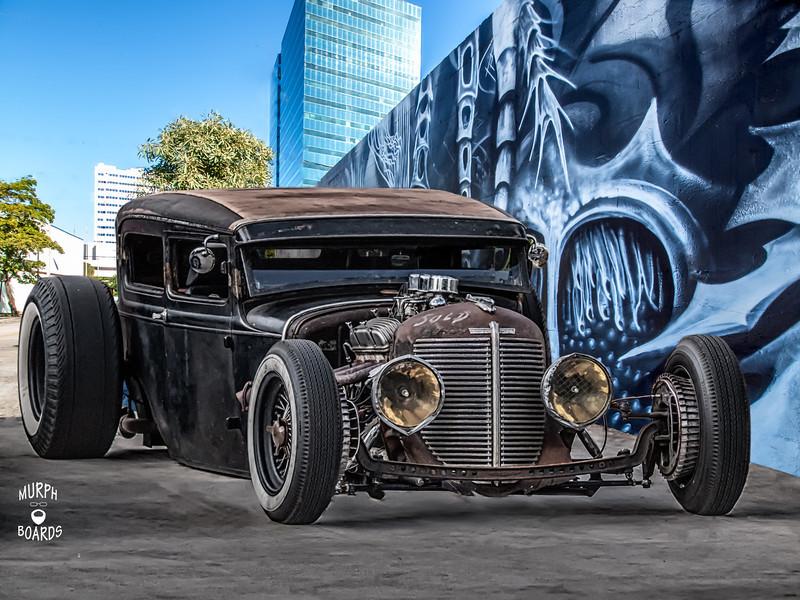 Black rat Rod sedan