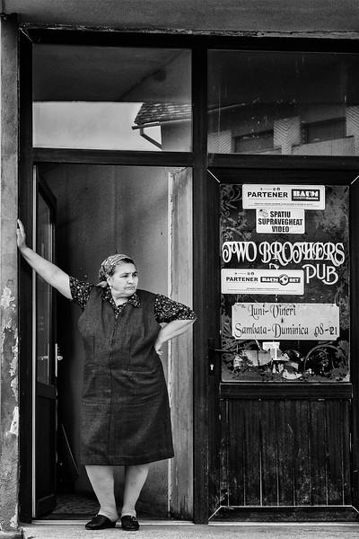 Portrait of a pub proprietor in Sibiu, Romania