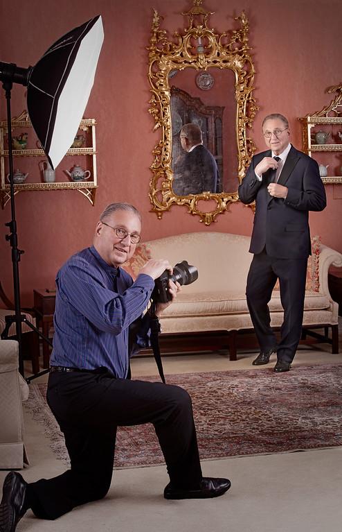 Tom Mueller, double self portrait