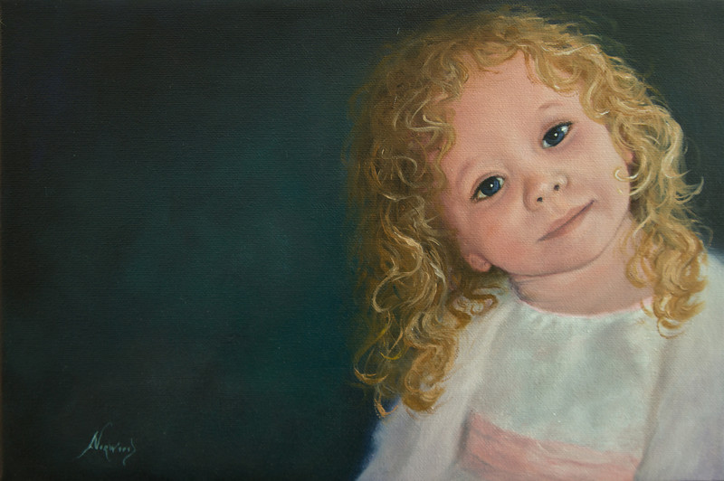 Sofie<br /> 8 x 12<br /> Oil on canvas