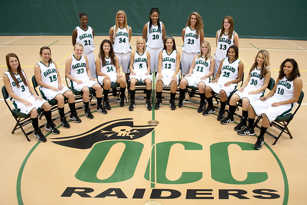 Oakland Community College Raiders Basketball Portrait Session