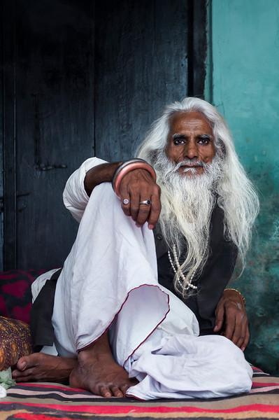Charismatic Hindu elder in Varanasi, India