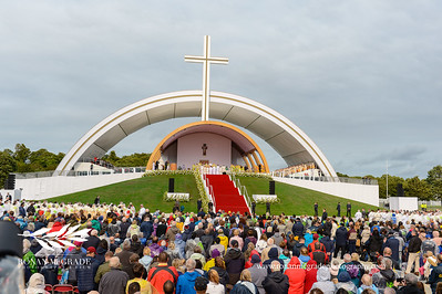 Pope Francis visit to Ireland, Phoenix Park, Sunday 26th August 2018:   Pope Francis says mass to a estimated crowd of over 500,000 in Phoenix Park, Dublin.       Picture: Ronan McGrade