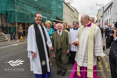 Michael D Higgins visits Enniskillen
