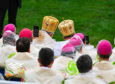 Pope Francis visit to Ireland, Phoenix Park, Sunday 26th August 2018:     Clergy from around the world attended the mass at Phoenix Park, Dublin with Pope Francis.    Picture: Ronan McGrade