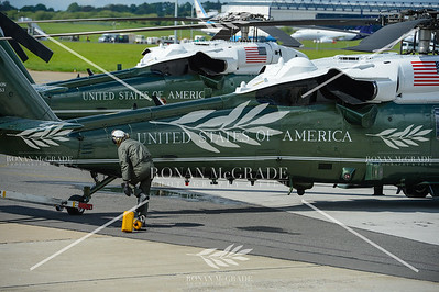 PACEMAKER PRESS 05/06/2019: Preparations are made for the arrivial of US President Donald Trump and his wife, First Lady Melania Trump, at Shannon Airport, Co Clare, Ireland.  Picture: Ronan McGrade/Pacemaker Press
