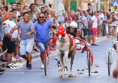 Horse Racing on Republic Street, Victoria, Gozo. July 2018.  Picture © Ronan McGrade | www.ronanmcgradephotography.com