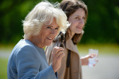 HRH Prince Charles and Camilla met with dignitaries and locals at a garden party at Castlecoole, Enniskillen.  Picture: Ronan McGrade/Pacemaker