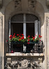 Open window with flowers, Rue Mouffetard, Paris