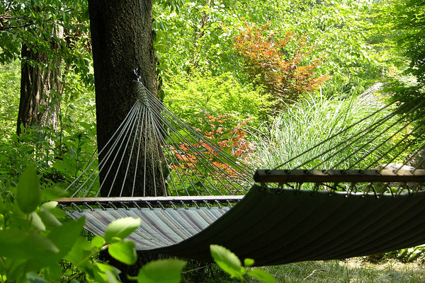 Hammock, private garden in Bucks County PA
