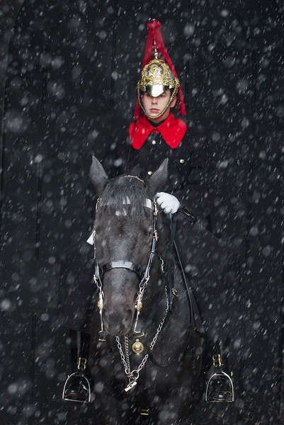 Guardsman in the snow