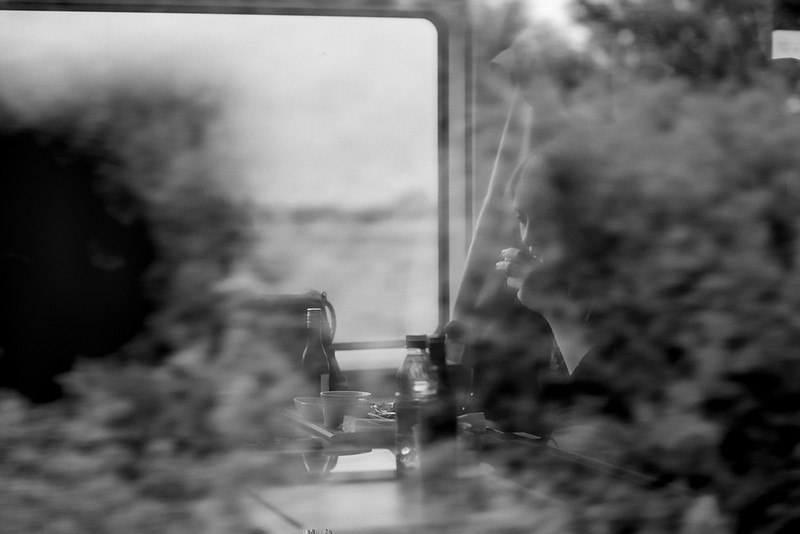 Girl on the train, northern France