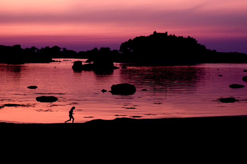 Sunset, Plage Saint-Guirec, Brittany