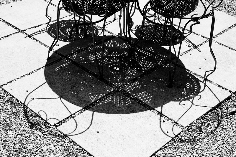 Table shadows, St Remy de Provence