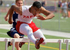 Image © 2011 Ralph Mawyer, Jr.|| San Antonio Taft athlete winning 100M hurdles, Boerne ISD Relays, 26 Mar 2011, Boerne, TX