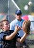 Image © 2010 Ralph Mawyer, Jr.|| Kerrville Indians catcher catching pop-up foul ball vs San Antonio Devils (Under 12), 5 Jun 2010, Boerne, Texas.