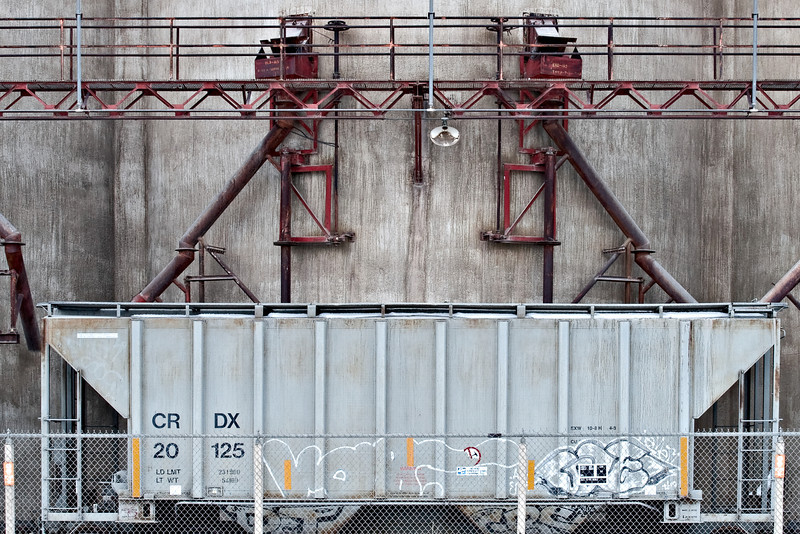 Train Car and Cement Plant, 2010<br /> © Edward D Sherline