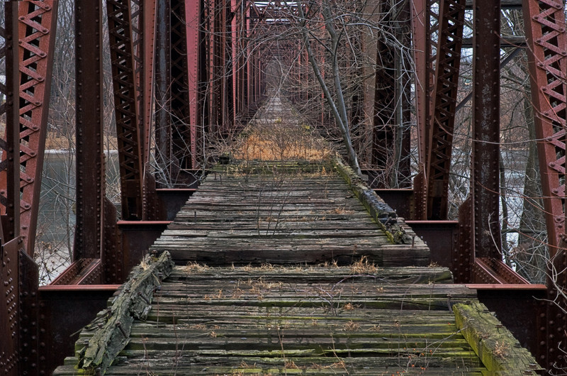 Lewisburg Bridge, Susquehanna River, PA, 2010<br /> © Edward D Sherline