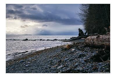 A T'Sou-ke Beach in Winter