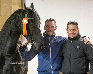 Martie KCF with trainers Martinus Hoekstra and Alfons van Prosdij