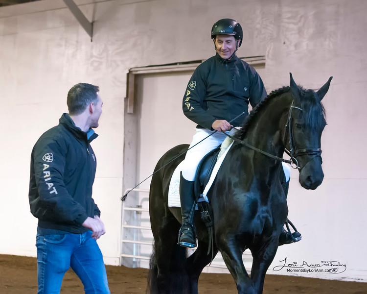 Trainers Martinus Hoekstra and Alfons van Proosdij with Mieke KFC