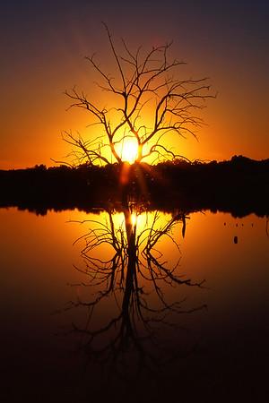 Stone Arch Lake Sunset
