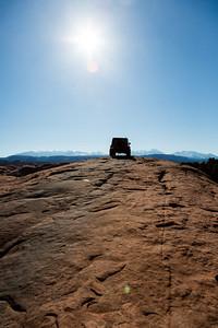 Jeep on Slickrock