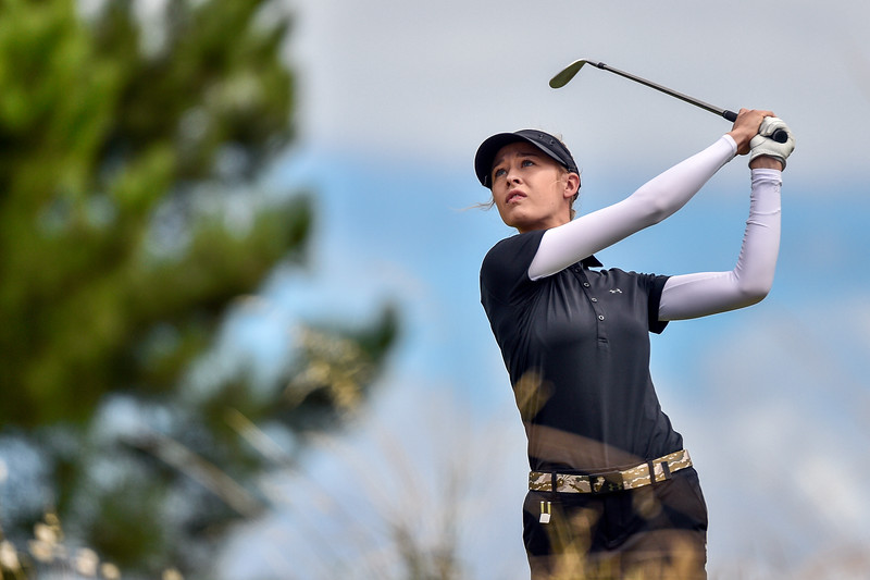 ADELAIDE, AUSTRALIA - FEBRUARY 17:  Nelly Korda of the USA on the 11th fairway during round two of the ISPS Handa Women's Australian Open at Royal Adelaide Golf Club on February 17, 2017 in Adelaide, Australia.