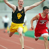 Brian Ryman of Old Fort wins the 100 meter dash.<br /> Photo ben French