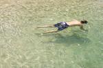 Snorkler, Waikiki Beach, Oahu, Hawaii, USA