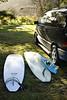 Surfboards by van, Port Angeles, WA USA