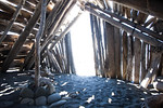 Driftwood shack, Port Angeles, WA USA