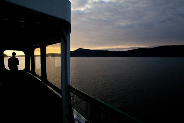 Crossing Rosario Strait to the San Juan Islands, WA USA
