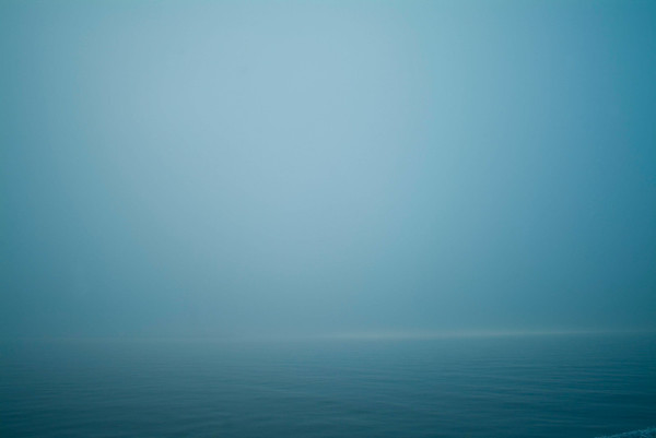 Fog over water, San Juan Islands, WA