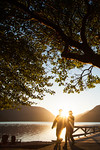 Hand holding couple, Lake Crescent, Olympic National Park, Port Angeles, WA USA