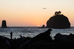 Sun setting over the ocean, La Push, Quillayute Indian Reservation