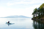 Sea kayaker, San Juan Islands, WA USA