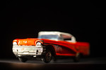 Antique toy car, close-up